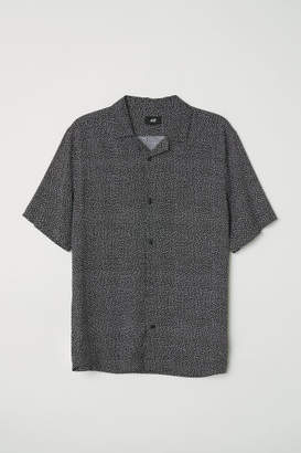 H&M Relaxed Fit Resort Shirt - Black