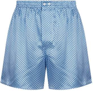 Zimmerli Floral Print Silk Boxer Shorts