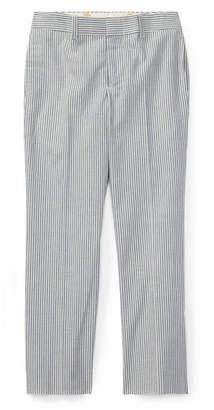 Ralph Lauren Woodsman Striped Seersucker Pants, Blue, Size 4-7