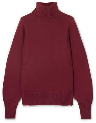 The Row Meredith Wool Turtleneck Sweater - Burgundy