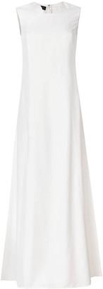 Talbot Runhof sleeveless flared dress