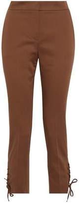 Max Mara Aggravi Lace-Up Cotton-Blend Slim-Leg Pants