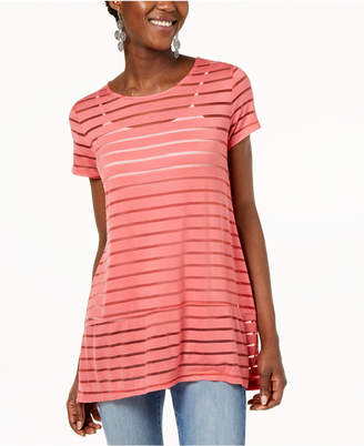 INC International Concepts I.n.c. Illusion-Striped Top, Created for Macy's