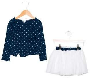 Splendid Girls' Printed Two-Piece Skirt Set