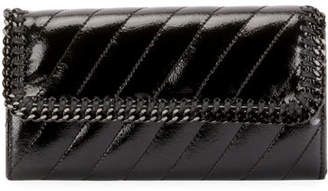 Stella McCartney Falabella Quilted Alter Napa Continental Flap-Top Wallet