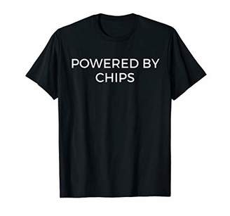Funny Chips T-Shirt Powered By Chips Tee