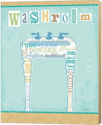 Metaverse Bathroom Words Sink Ii By Pela Studio Canvas Art
