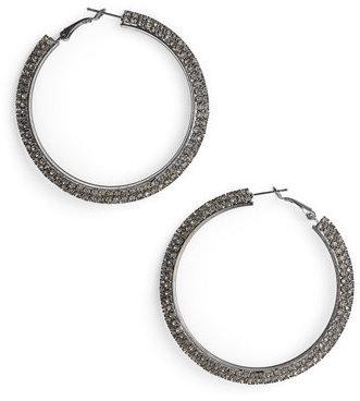 Natasha Couture Large Crystal Hoop Earrings