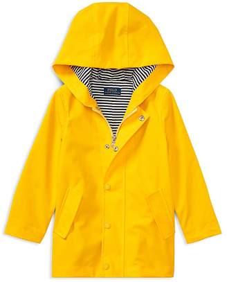 Polo Ralph Lauren Girls' Hooded Raincoat - Little Kid