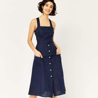 Warehouse Linen Button Through Dress