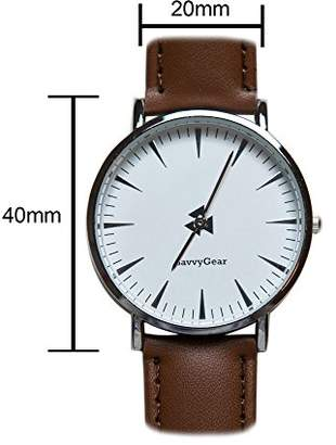 SavvyGear Quartz Silver Tone and Polyurethane Watch