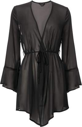 Only Hearts Black Sheer Robe