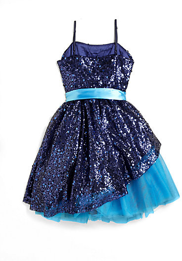 Un Deux Trois Girl's Sequin Peek-A-Boo Dress