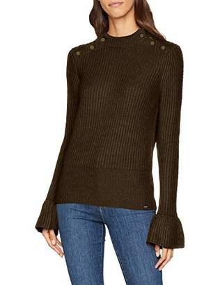 ... Scotch   Soda Maison Women s Cosy Pullover Knit with Tonal Press Buttons  at Shoulders Jumper, ab7b1e9c926d