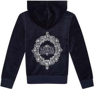 Juicy Couture Robertson Ornate Cameo Velour Hoodie