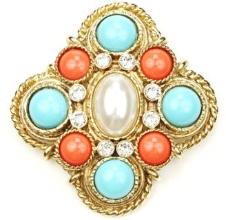 Women's Ben-Amun Faux Pearl Center Brooch $245 thestylecure.com