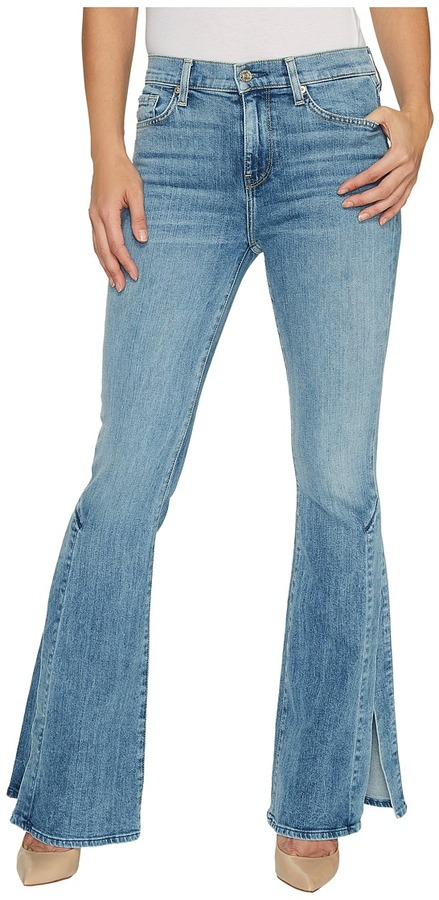7 For All Mankind7 For All Mankind - Ali Jeans w/ Side Seam Split in Gold Coast Waves Women's Jeans