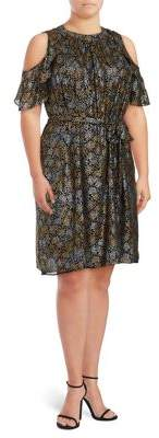 MICHAEL Michael Kors Stars Cold Shoulder Dress