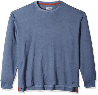 Smith's Workwear Men's Long-Tail Thermal Knit Crew Pullover with Gusset