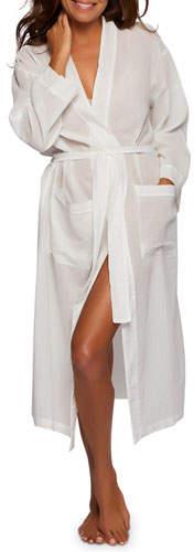 Pour Les Femmes Gauzy Cotton Long Robe