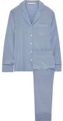 Stella McCartney Poppy Snoozing Printed Silk-Blend Pajama Set