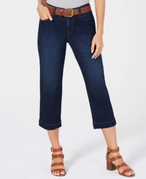 Style&Co. Style & Co Belted Denim Capri Pants, Created for Macy's