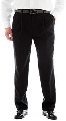 STAFFORD Stafford Sharkskin Pleated Pants-Big & Tall