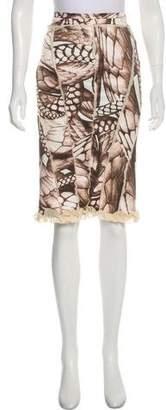 Just Cavalli Printed Knee-Length Skirt w/ Tags