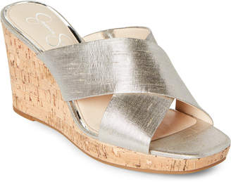 Jessica Simpson Shimmer Silver Wedge Sandals