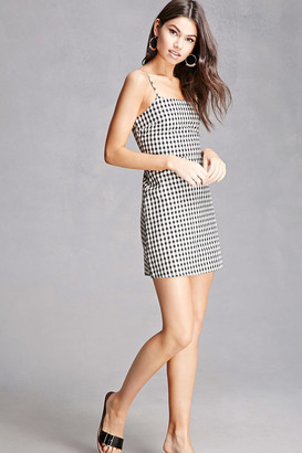 FOREVER 21+ Gingham Lace-Up Cami Dress $48 thestylecure.com