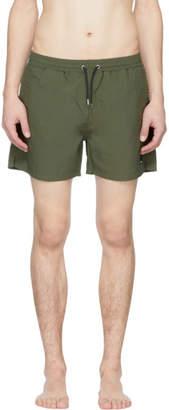 McQ Khaki Swallow Swim Shorts