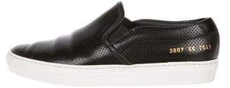Common Projects Woman by Leather Slip-On Sneakers