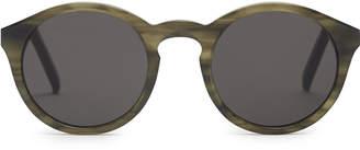 Barstow - Monokel Eyewear Keyhole Sunglasses in Tortoiseshell reflective, Mens Reiss