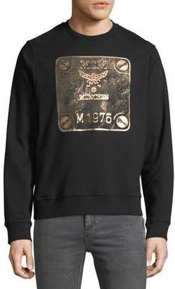 MCM Men's Logo Graphic Crewneck Sweatshirt