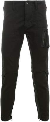 Julius zip leg skinny trousers