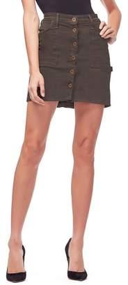 Good American Front Button Miniskirt