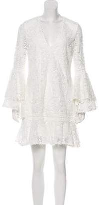 Alexis Crocheted Mini Dress