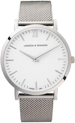 Larsson & Jennings LJ-W-CMSLV-O-SW Lugano 40 Mesh Watch