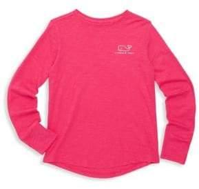 Vineyard Vines Little Girl's& Girl's Logo Foil Cotton Tee