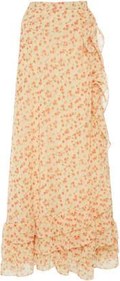 Luisa Beccaria Wrap Chiffon Midi Skirt