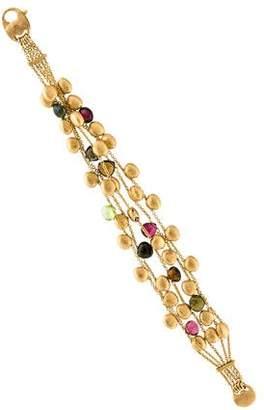 Marco Bicego 18K Tourmaline & Peridot Five Strand Bracelet