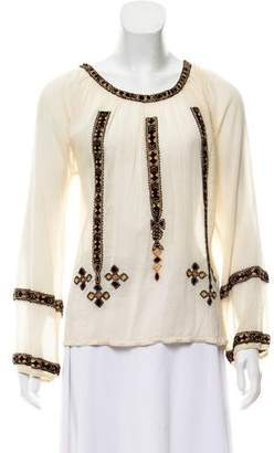 Joie Embroidered Long Sleeve Top