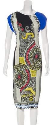 Etro Sleeveless Midi Dress Beige Sleeveless Midi Dress