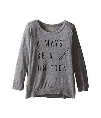 Original Retro Brand The Kids Always Be A Unicorn 3/4 Pullover (Big Kids)