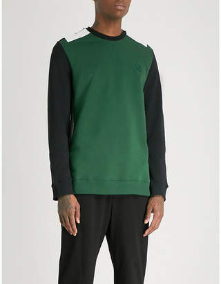 Fred Perry Tape-detail cotton-jersey sweatshirt
