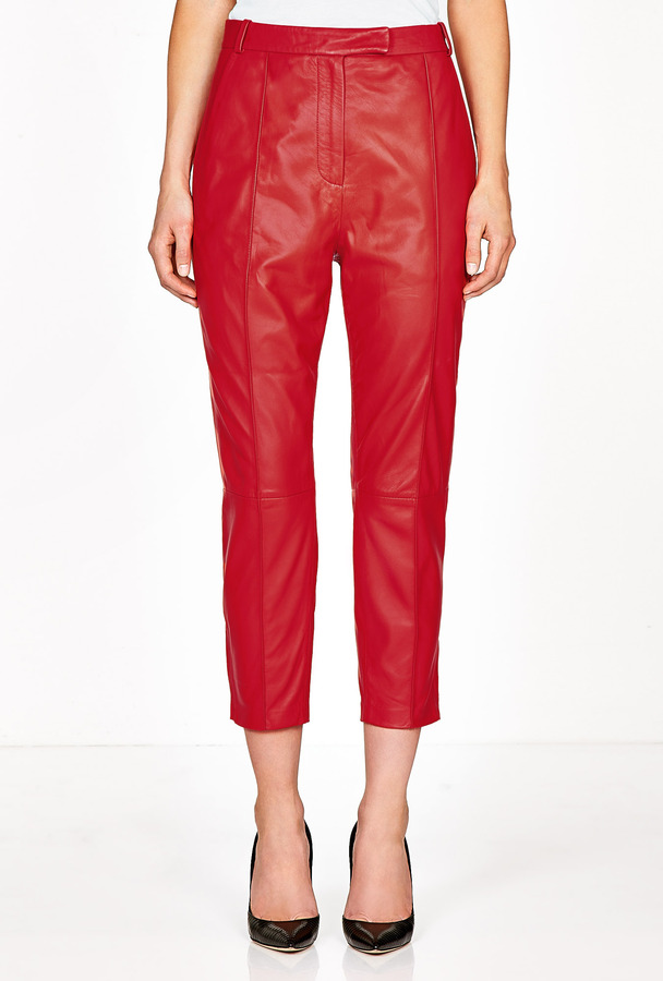 Avelon Rumor Red Leather Trousers