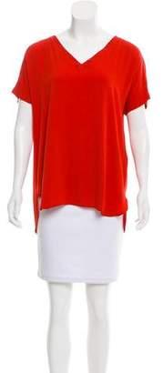 Loro Piana Silk Short Sleeve Top