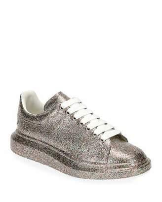 Alexander McQueen Men's Larry Glitter Platform Sneakers