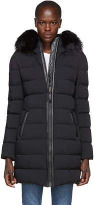 Mackage Black Calla Matte Lighweight Down Coat