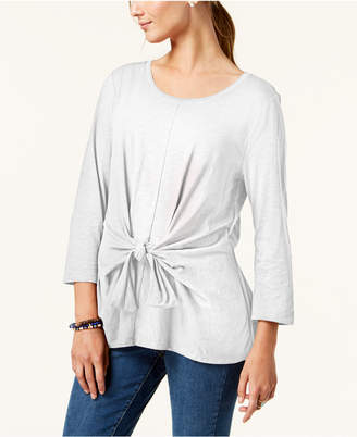 Style&Co. Style & Co Petite Tie-Front Top